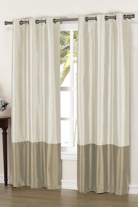 Duck River Textile Bridgette Faux Silk Thermal Blackout Curtain - Set of 2 - Beige/Mocha