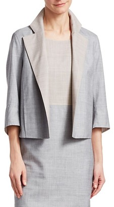 Akris Punto Reversible Wool Silk Short Jacket