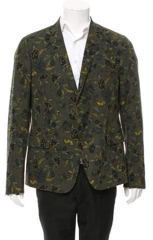 Gucci Floral Two-Button Blazer