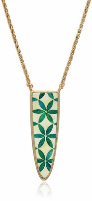 Lucky Brand Jewelry Reversible Mosaic Pendant Necklace