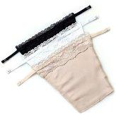 Flyou 3pcs Lady Lace Clip-on Mock Camisole Bra Insert Overlay Modesty Panel vest