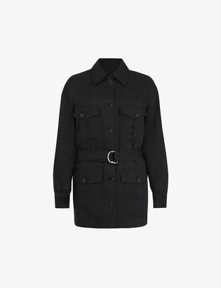 AllSaints Jax belted woven jacket