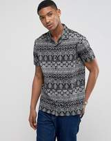 Ldn Dnm Printed Revere Short Sleeve Shirt