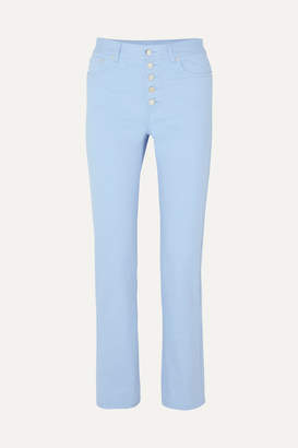 Joseph Den High-rise Straight-leg Jeans - Light blue