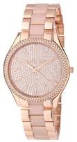 Michael Kors MK4288 Slim Runway Gold Crystal Dial Gold Steel Bracelet Womens Watch
