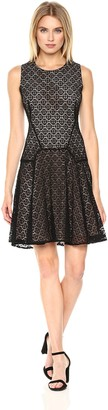 Tommy Hilfiger Women's Sundial Lace Fit and Flare Dress