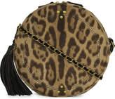 Jerome Dreyfuss Leopard print pony-hair and leather shoulder bag