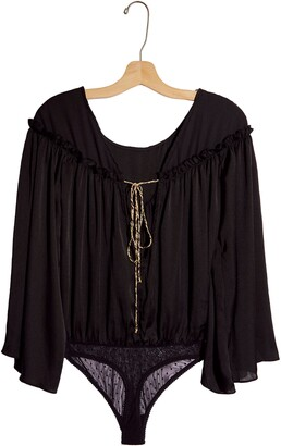 Free People She's a Natural Bell Sleeve Bodysuit