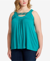 Jessica Simpson Plus Size Strappy-Front Tank Top