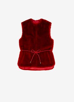 Bally Short Shearling Vest