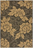 "Safavieh Courtyard Collection CY6957-46 Black and Natural Indoor/ Outdoor Area Rug, 2 feet 7 inches by 5 feet (2'7"" x 5')"