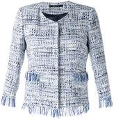 Tagliatore fringed bouclé blazer - women - Cotton/Polyamide/Polyester/Polyacrylic - 40