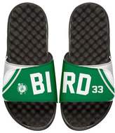 ISlide NBA Retro Legends Larry Bird 33 Jersey Slide Sandal, White
