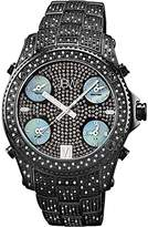 "JBW Men's JB-6213-B ""Jet Setter"" Ion Five Time Zone Diamond Watch"