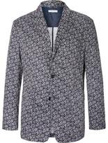 Engineered Garments Blue Baker Slim-Fit Paisley-Print Cotton-Voile Blazer