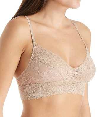 Pure Style Girlfriends Women's Semi-Sheer Bralette Bra