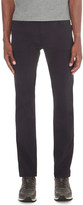 HUGO BOSS Textured slim-fit tapered stretch-cotton trousers