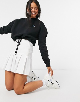 Russell Athletic fleece cropped sweatshirt in black