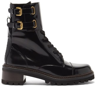 See by Chloe Mallory Buckled-strap Leather Boots - Black