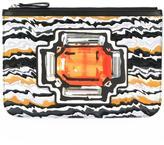 Pierre Hardy 'Multi Tan' clutch - women - Calf Leather - One Size