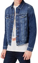 Topman Men's Washed Denim Jacket
