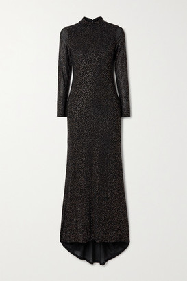 Alice + Olivia Delora Crystal-embellished Tulle Gown - Black
