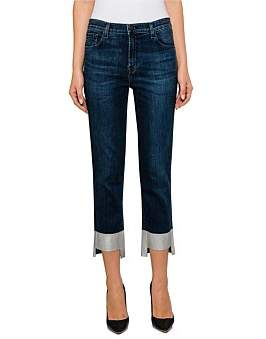 J Brand Ruby High Rise Crop Cigarette Jean