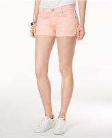Hudson Kenzie Cotton Frayed Denim Shorts
