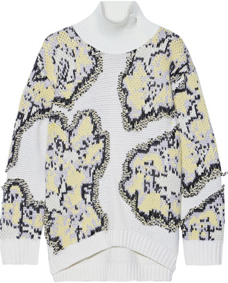 3.1 Phillip Lim Fil Coupe Jacquard-knit Turtleneck Sweater