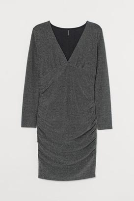 H&M H&M+ Glittery Dress - Gray