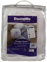 Dunlopillo Comfort Cotton Polyurethane Waterproof Mattress Cover, 160 x 200 cm, White