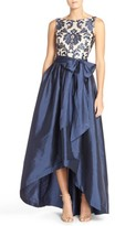 Adrianna Papell Women's Embroidered Lace & Taffeta Ballgown