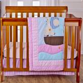 Dream On Me Sea Friends 3-Piece Reversible Portable Crib Bedding Set