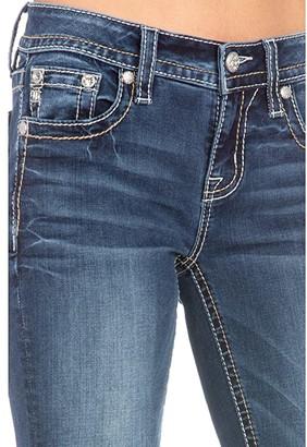 Miss Me Horseshoe Floral Cactus Bootcut Jeans in Dark Blue (Dark Blue) Women's Jeans