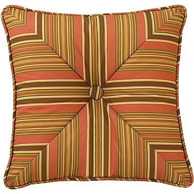 "Waverly Grand Bazaar 20"" Square Striped Decorative Pillow"