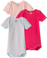 Petit Bateau Pack of 3 onesies with an envelope neck