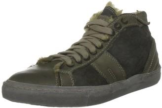 Pantofola D'oro Women's De Fabris Mid Militare Lace Ups Trainers Tn72B-D_166 4 UK 37 EU
