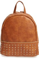Sole Society 'Prescott' Grommet Faux Leather Backpack