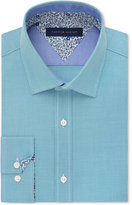 Tommy Hilfiger Men's Slim-Fit Green Check Liberty-Print Dress Shirt