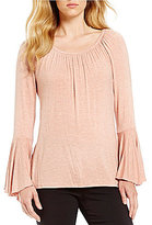 Gibson & Latimer Knit Bell Sleeve Top