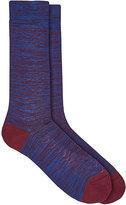 Barneys New York Men's Cotton-Blend Mélange Mid-Calf Socks