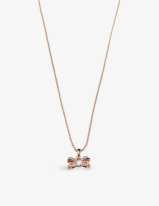 Ted Baker Brizla brass and zirconia necklace