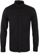 Nudie Jeans Calle Black Overdyed Loose Fit Shirt