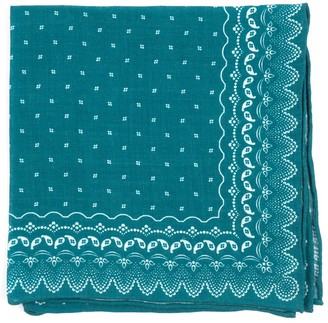 Tie Bar Outpost Paisley Teal Pocket Square