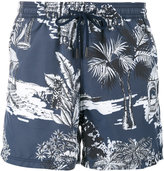Etro Hawaiian print swimming trunks - men - Nylon - M