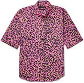 Marc Jacobs - Lenny Slim-fit Button-down Collar Leopard-print Cotton Shirt