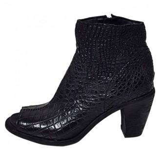 Isaac Sellam Black Alligator Ankle boots