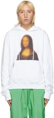 Off-White White Blurred Mona Lisa Hoodie