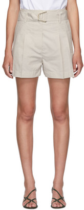 3.1 Phillip Lim Beige Belted Utility Shorts