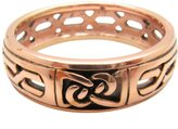 Copper Celtic Rings - Size 7 Solid Copper Celtic Knot Band Ring Size 10 - CTR1902 - 1/4 of an Inch Wide.